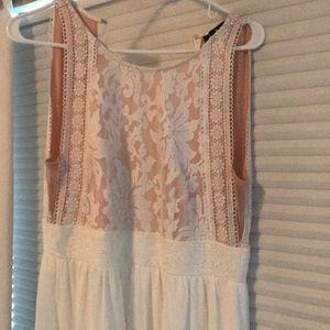 Women's white long dress size M
